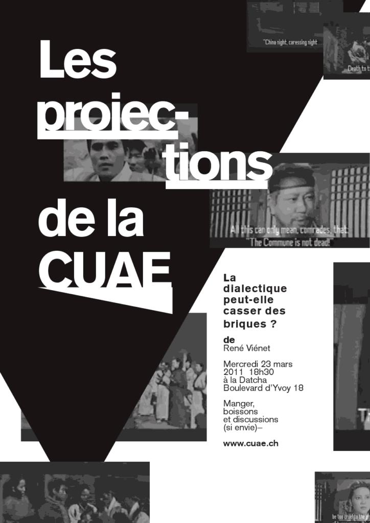 Projection: La Dialectique peut-elle casser des briques?, 23 mars 2011
