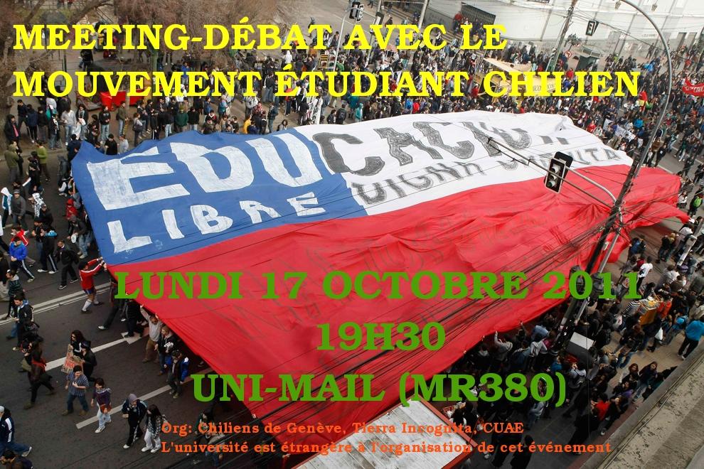 Rencontre avec les étudiant-e-s chilien-ne-s en lutte