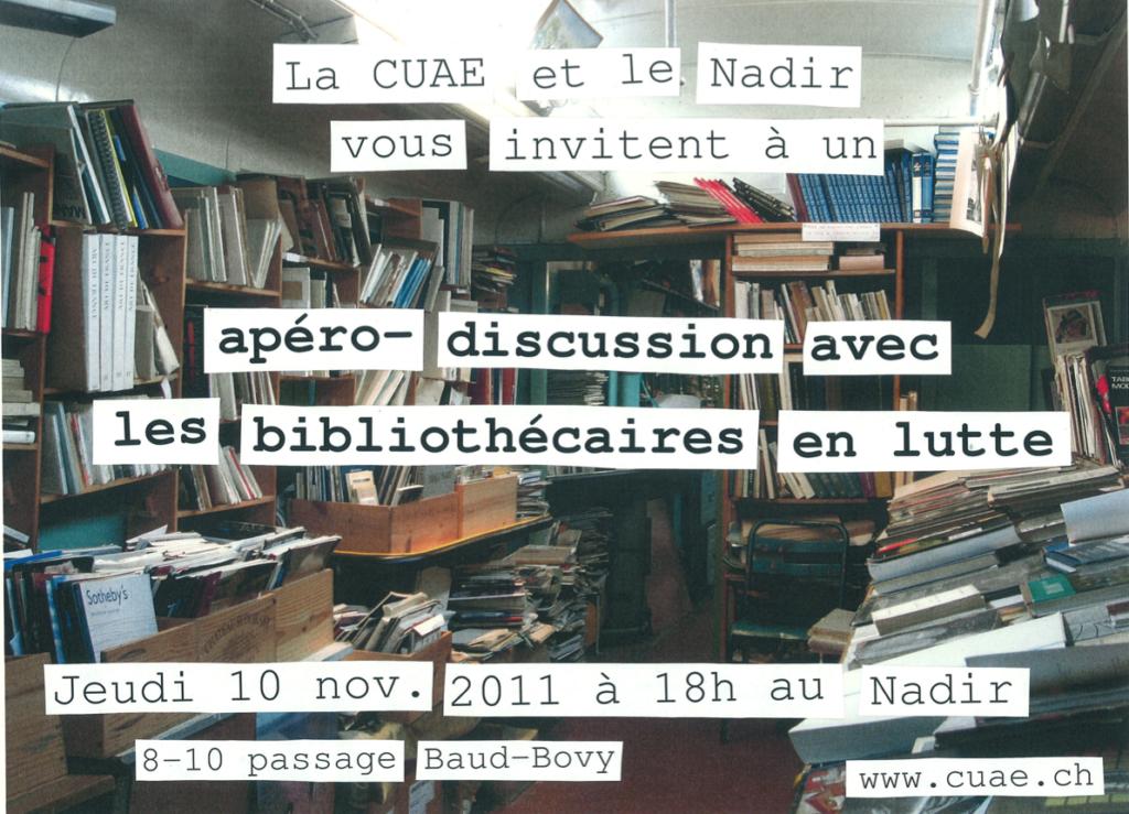 Apéro-discussion avec les bibliothécaires