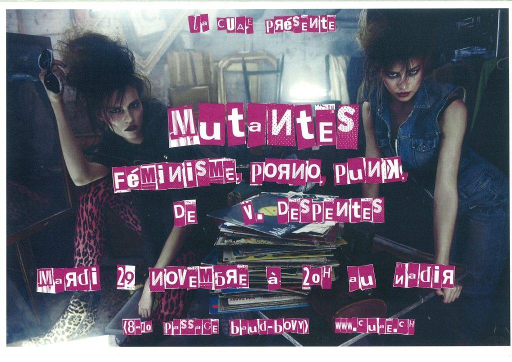 Projection de Mutantes, féminisme, porno, punk