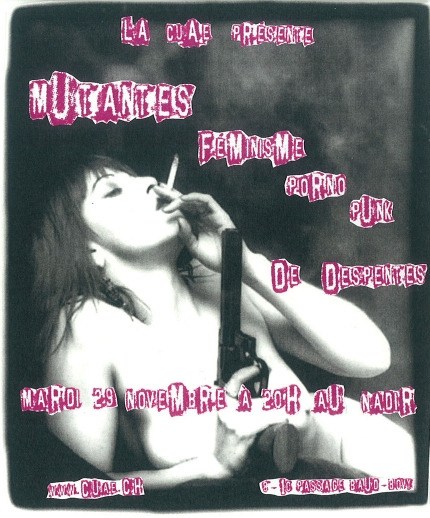 Projection de Mutantes, féminisme, porno, punk - Flyer