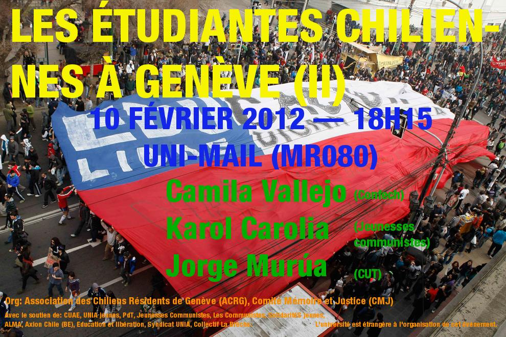 Les étudiantes chiliennes à Genève (II)