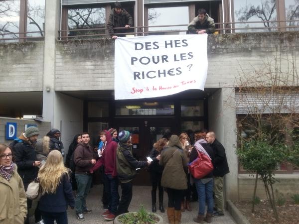 Actions contre l'augmentation des taxes d'études dans les HES