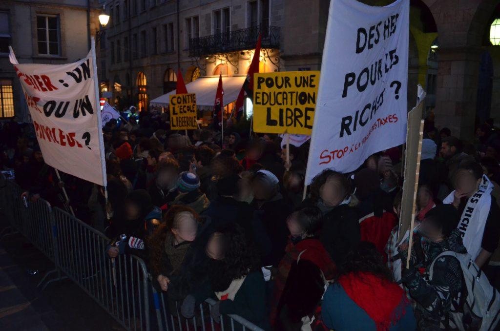 Compte-rendu de la manifestation du 15 mars contre la hausse des taxes dans les HES