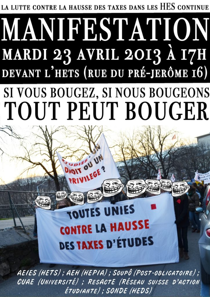 Appel à manifester le 23 avril 2013 - Stop à la hausse!