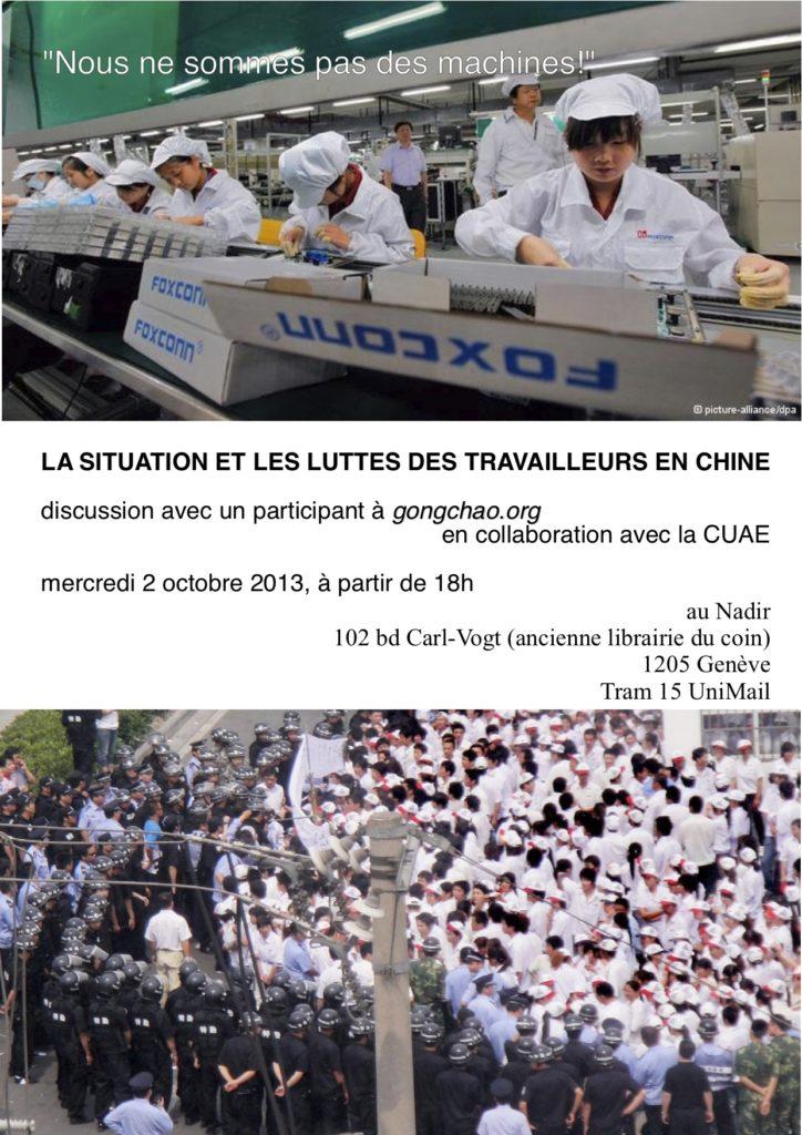 Discussion sur les luttes des travailleuses en Chine au Nadir