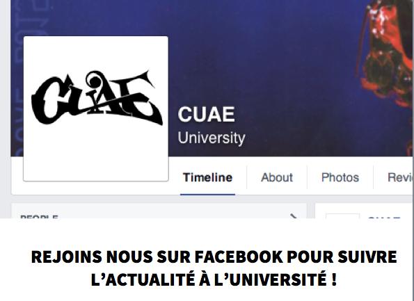 La CUAE est sur Facebook