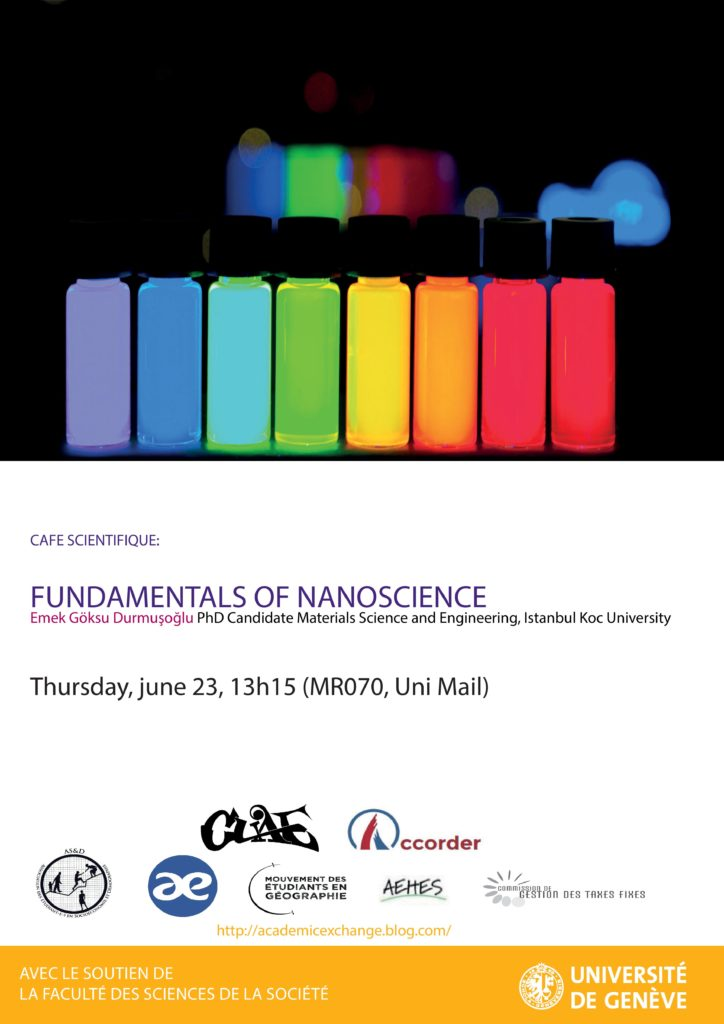 Colloque interdisciplinaire du 20 au 24 juin - Fundamentals of nanoscience
